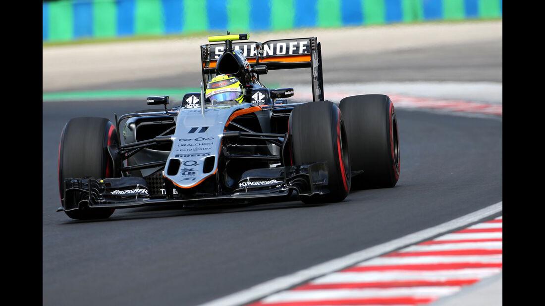 Sergio Perez - Force India - Formel 1 - GP Ungarn - 22. Juli 2016
