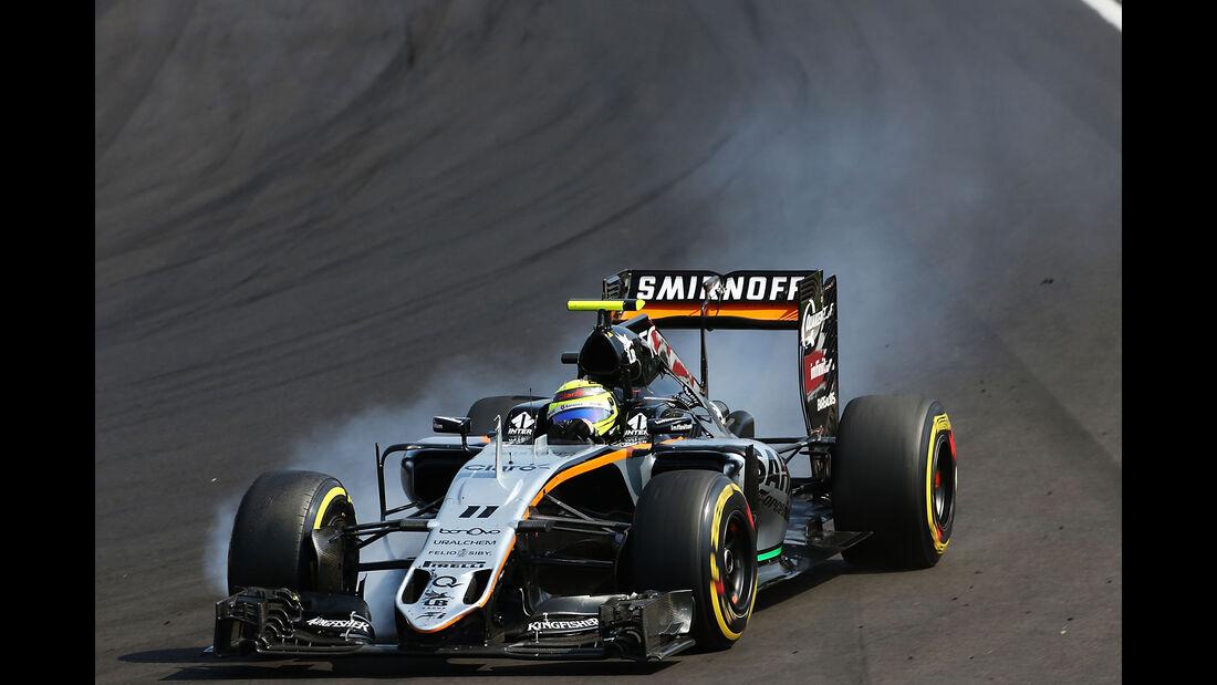 Sergio Perez - Force India - Formel 1 - GP Ungarn - 24. Juli 2016