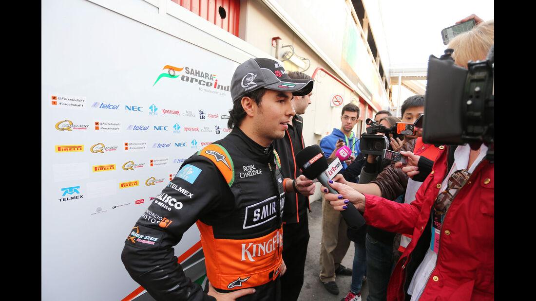 Sergio Perez - Force India - Formel 1-Test - Barcelona - 1. März 2015