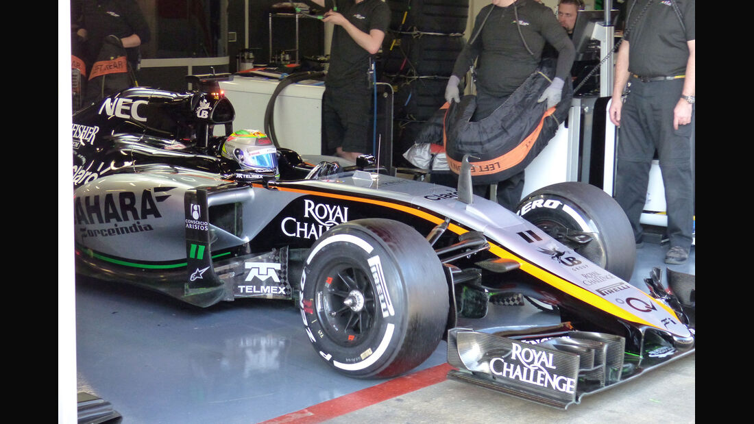 Sergio Perez - Force India - Formel 1-Test - Barcelona - 1. März 2015