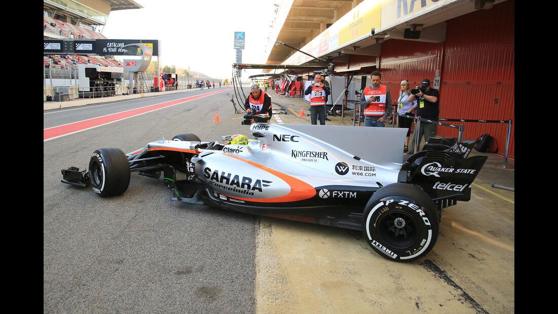Sergio Perez - Force India - Formel 1 - Test - Barcelona - 10. März 2017