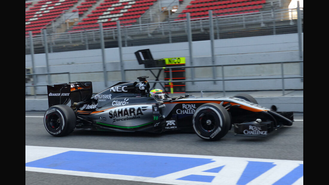 Sergio Perez - Force India - Formel 1-Test - Barcelona - 19. Februar 2015