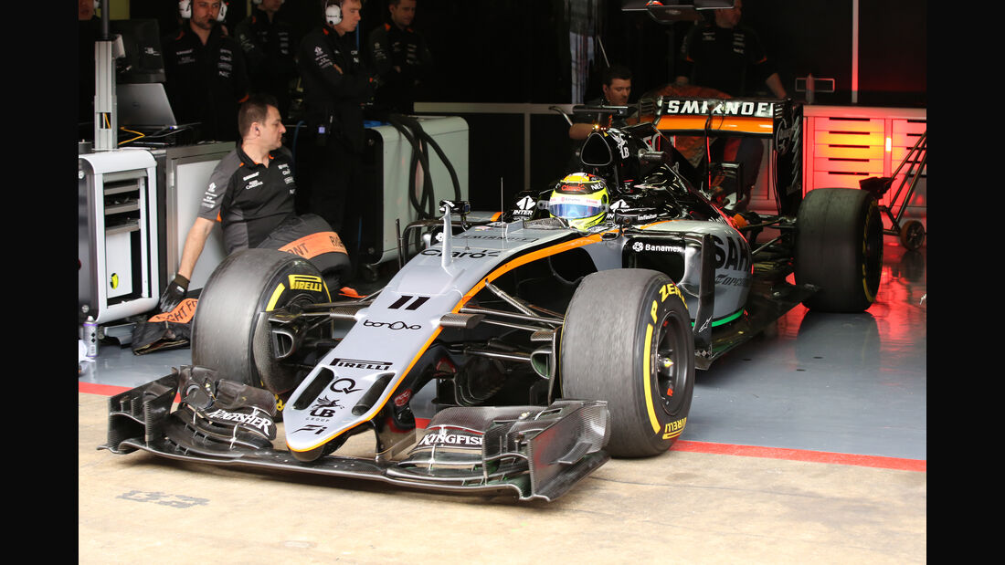Sergio Perez - Force India - Formel 1 - Test - Barcelona - 2. März 2016