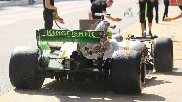 Sergio Perez - Force India - Formel 1 - Test - Barcelona - 2. März 2017