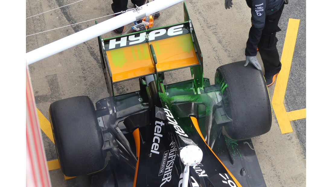 Sergio Perez - Force India - Formel 1-Test - Barcelona - 23. Februar 2016