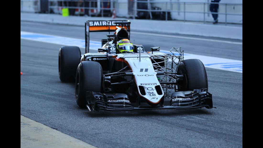 Sergio Perez - Force India - Formel 1-Test - Barcelona - 4. März 2016