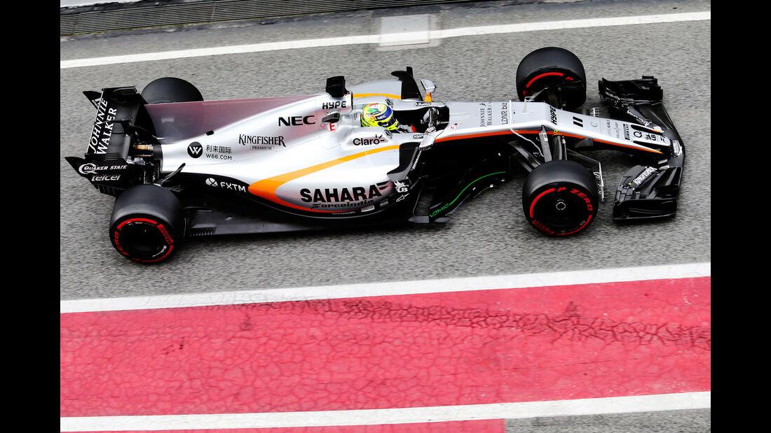 Sergio Perez - Force India - Formel 1 - Test - Barcelona - 8. März 2017