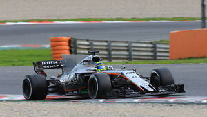 Sergio Perez - Force India - Formel 1 - Test - Barcelona - 8. März 2017