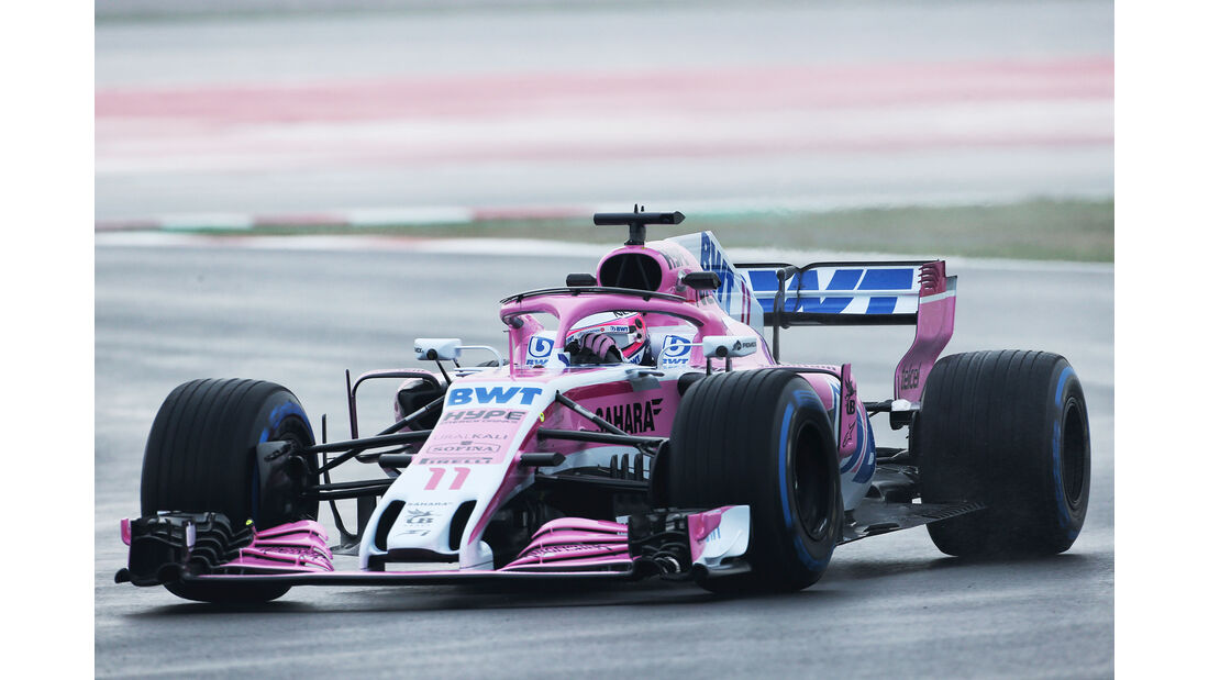 Sergio Perez - Force India - Formel 1 Test - Barcelona - Tag 4 - 1. März 2018