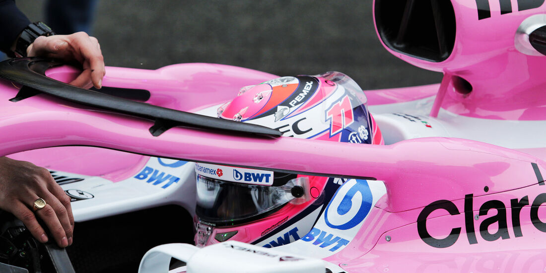 Sergio Perez - Force India - Formel 1 Test - Barcelona - Tag 4 - 1. März 2018