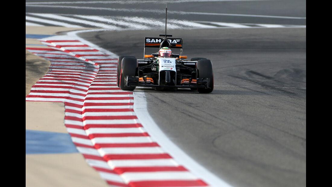 Sergio Perez - Force India - Formel 1 - Test - GP Bahrain - 9. April 2014