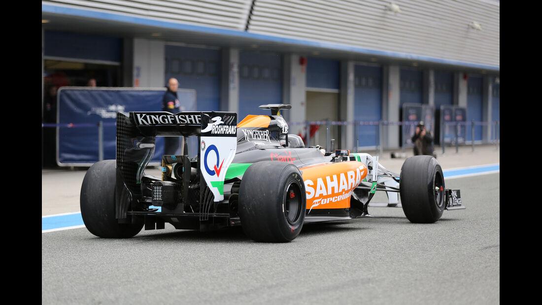Sergio Perez - Force India - Formel 1 - Test - Jerez - 28. Januar 2014