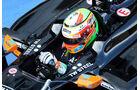 Sergio Perez - Force India - Formel 1-Test - Silverstone 2014