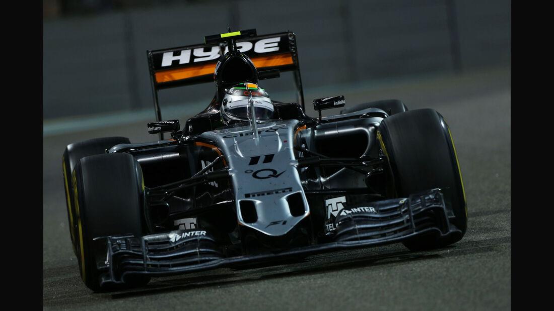 Sergio Perez - Force India - GP Abu Dhabi 2015