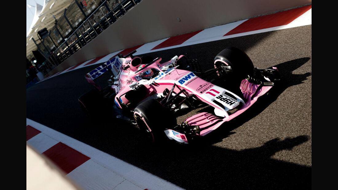 Sergio Perez - Force India - GP Abu Dhabi 2018