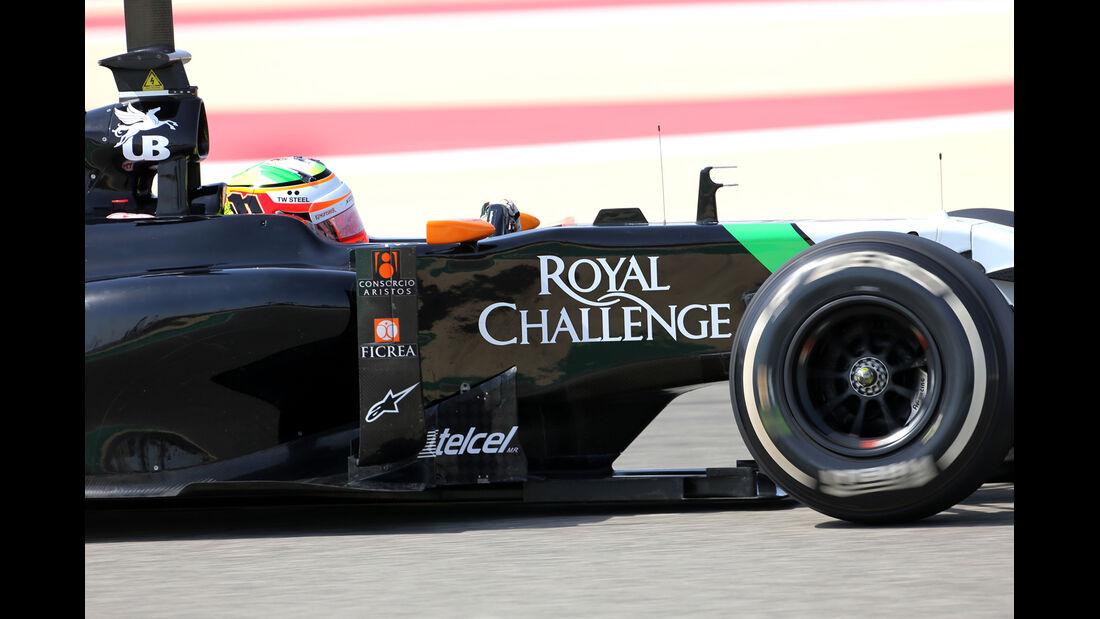 Sergio Perez - Force India - GP Bahrain - Test 2 - 9. April 2014