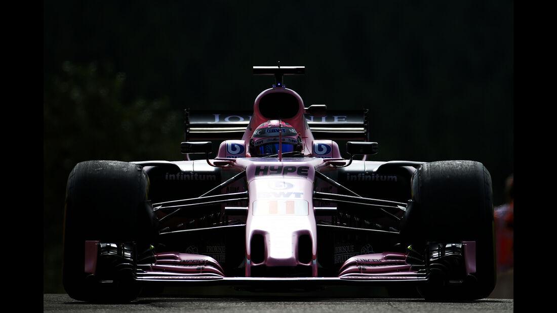 Sergio Perez - Force India - GP Belgien - Spa-Francorchamps - Formel 1 - 25. August 2017