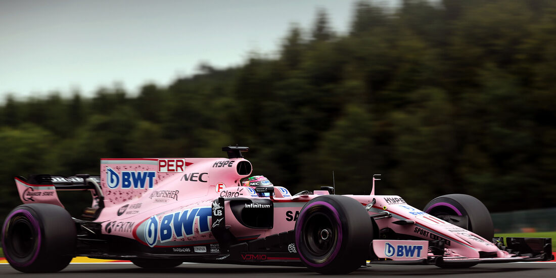 Sergio Perez - Force India - GP Belgien - Spa-Francorchamps - Formel 1 - 25. August 2017