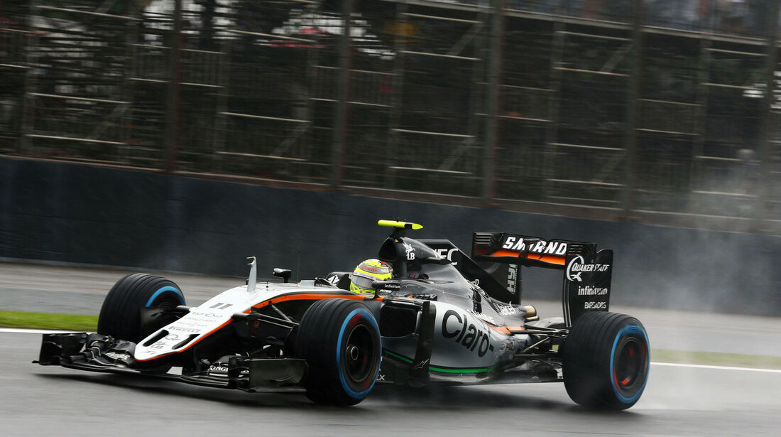 Sergio Perez - Force India - GP Brasilien 2016 - Interlagos - Rennen