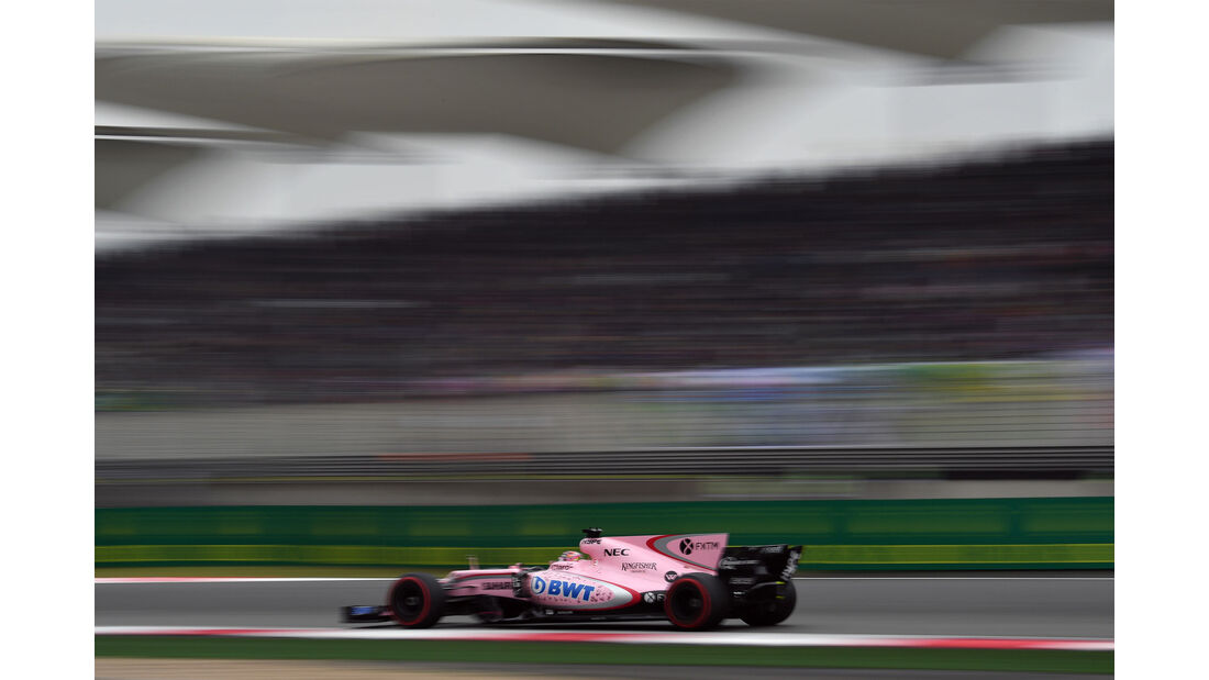 Sergio Perez - Force India - GP China 2017 - Shanghai - Rennen