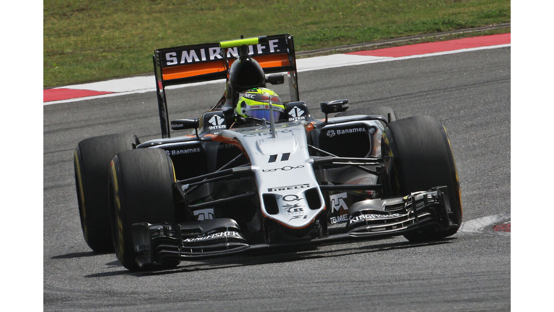 Sergio Perez - Force India - GP China - Shanghai - Freitag - 15.04.2016