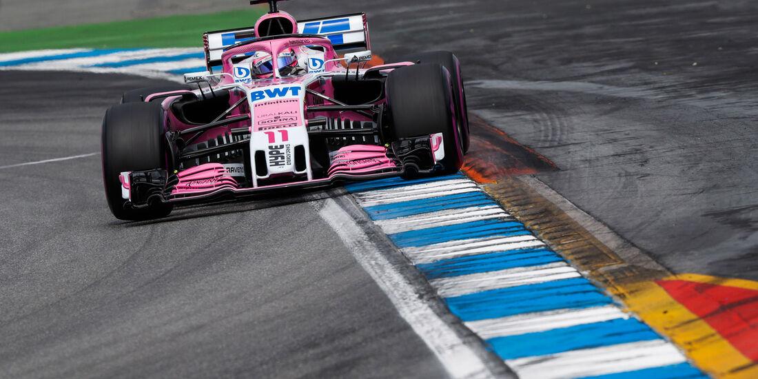 Sergio Perez - Force India - GP Deutschland 2018 - Hockenheim - Qualifying - Formel 1 - Samstag - 21.7.2018
