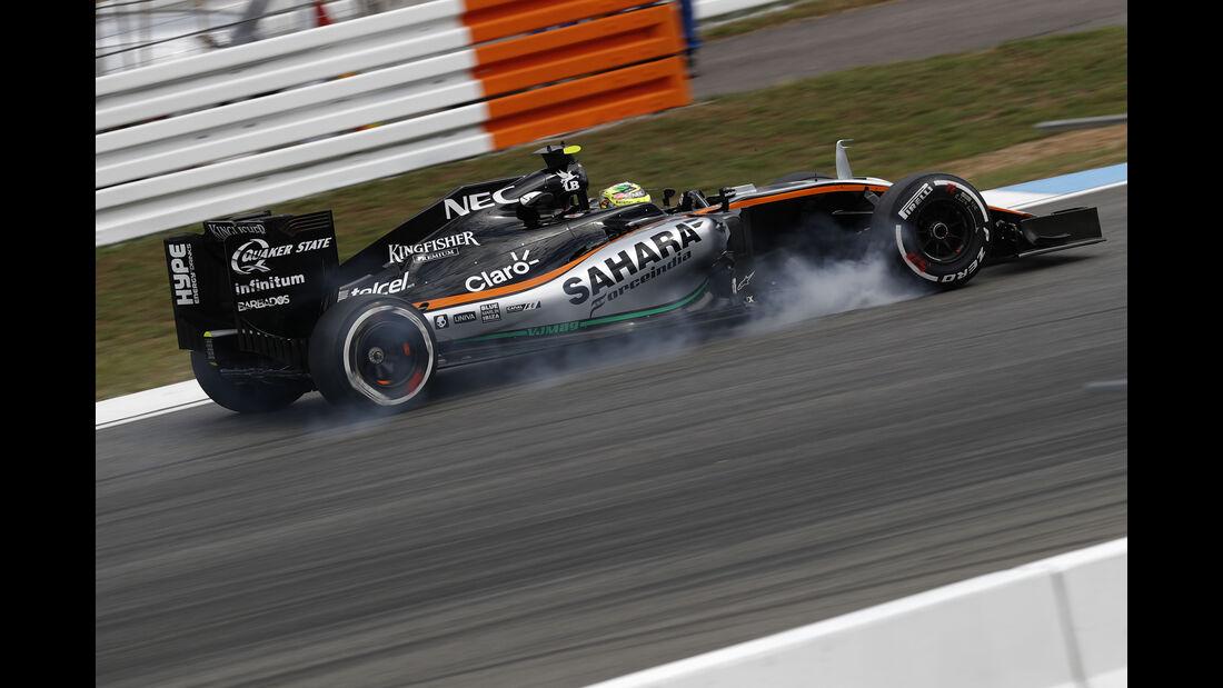 Sergio Perez - Force India - GP Deutschland - Formel 1 - 29. Juli 2016