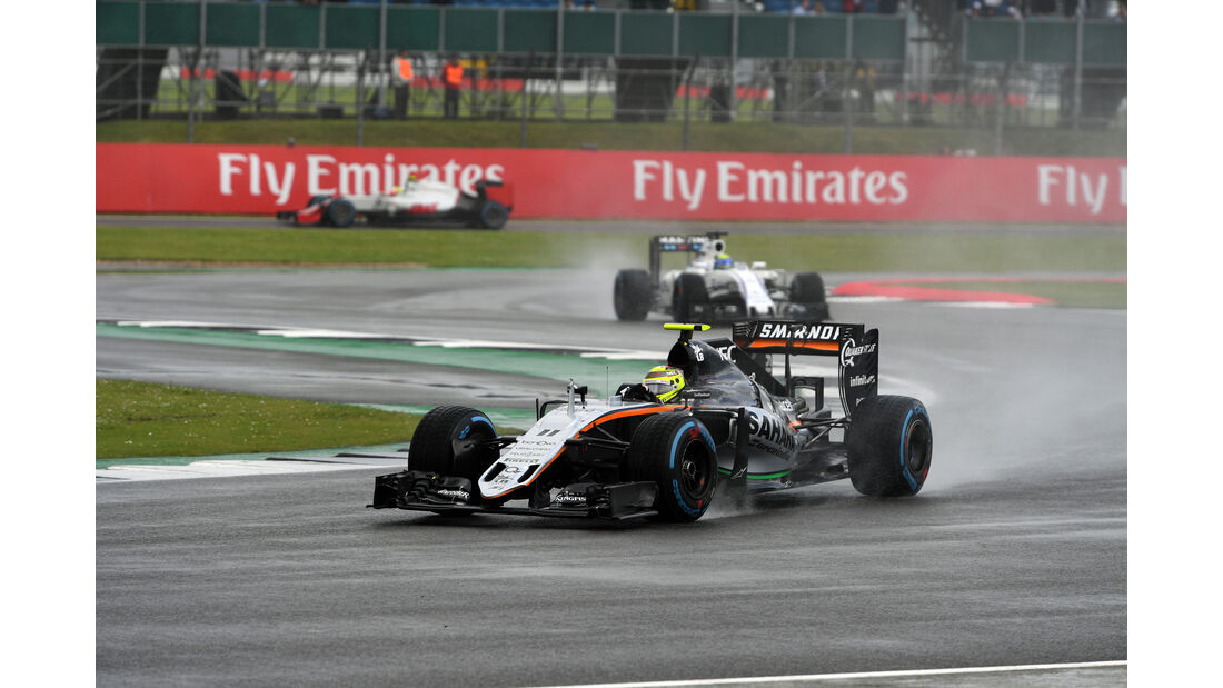 Sergio Perez - Force India - GP England 2016 - Silverstone - Rennen