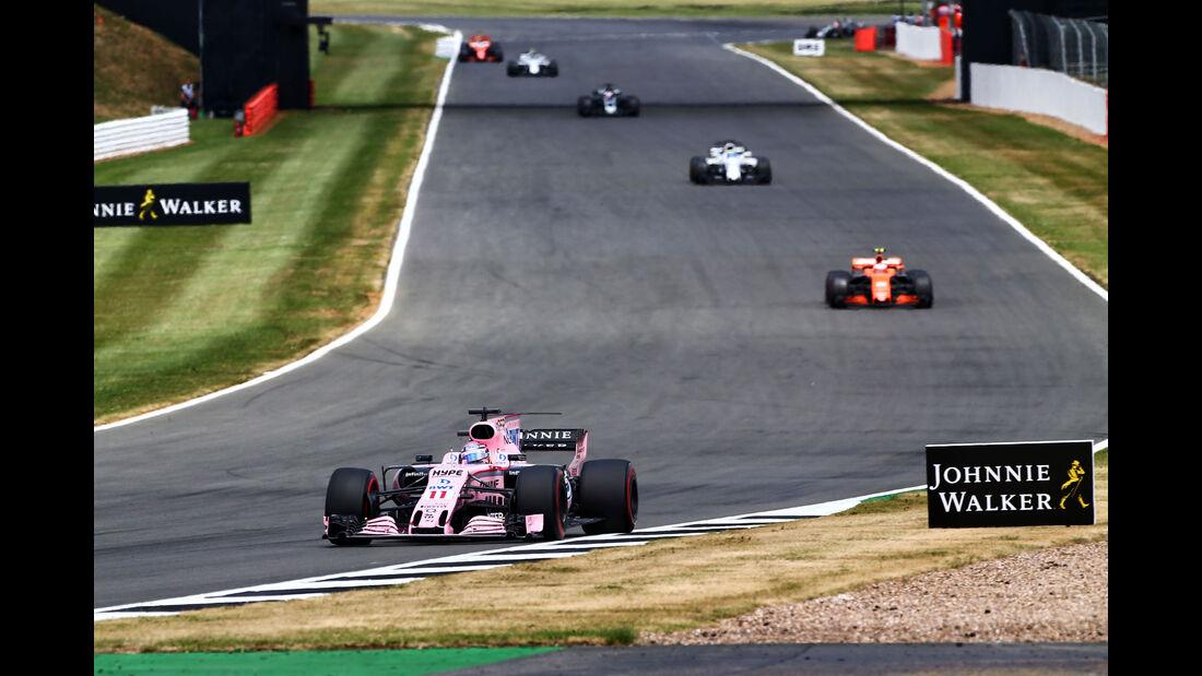 Sergio Perez - Force India - GP England 2017 - Silverstone - Rennen