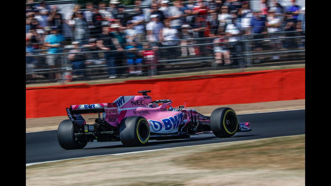 Sergio Perez - Force India - GP England - Silverstone - Formel 1 - Freitag - 6.7.2018