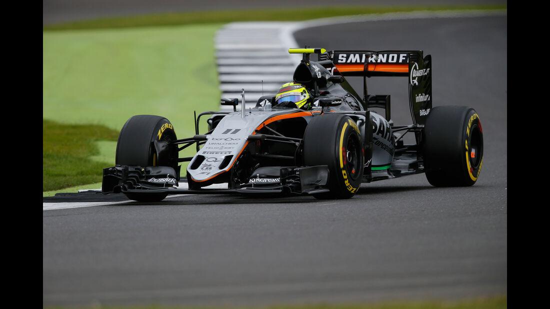 Sergio Perez - Force India - GP England - Silverstone - Formel 1 - Freitag - 8.7.2016