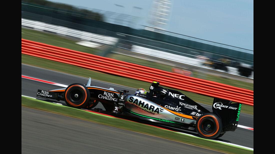 Sergio Perez - Force India - GP England - Silverstone - Freitag - 3.7.2015