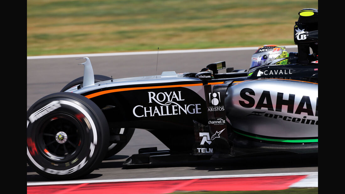 Sergio Perez - Force India - GP England - Silverstone - Qualifying - Samstag - 4.7.2015