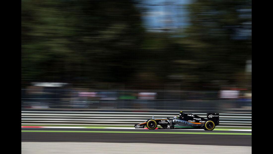 Sergio Perez - Force India - GP Italien - Monza - Qualifying - 5.9.2015