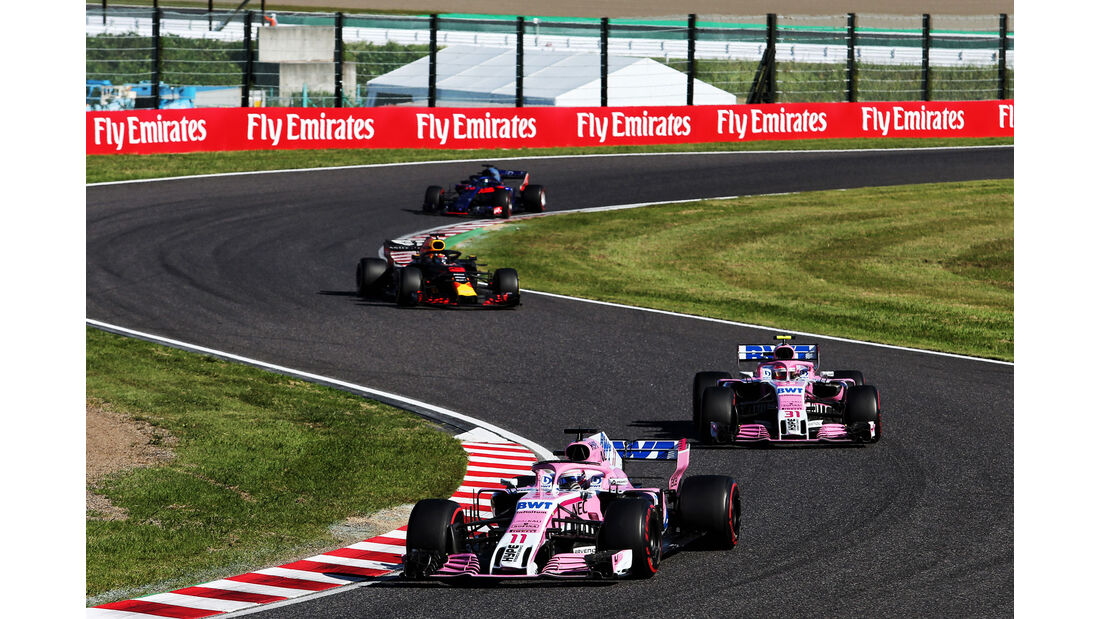 Sergio Perez - Force India - GP Japan 2018 - Suzuka - Rennen