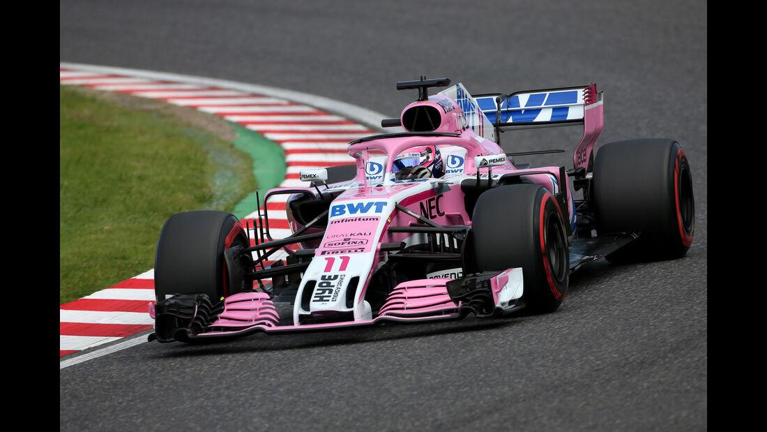 Sergio Perez - Force India - GP Japan - Suzuka - Formel 1 - Samstag - 6.10.2018