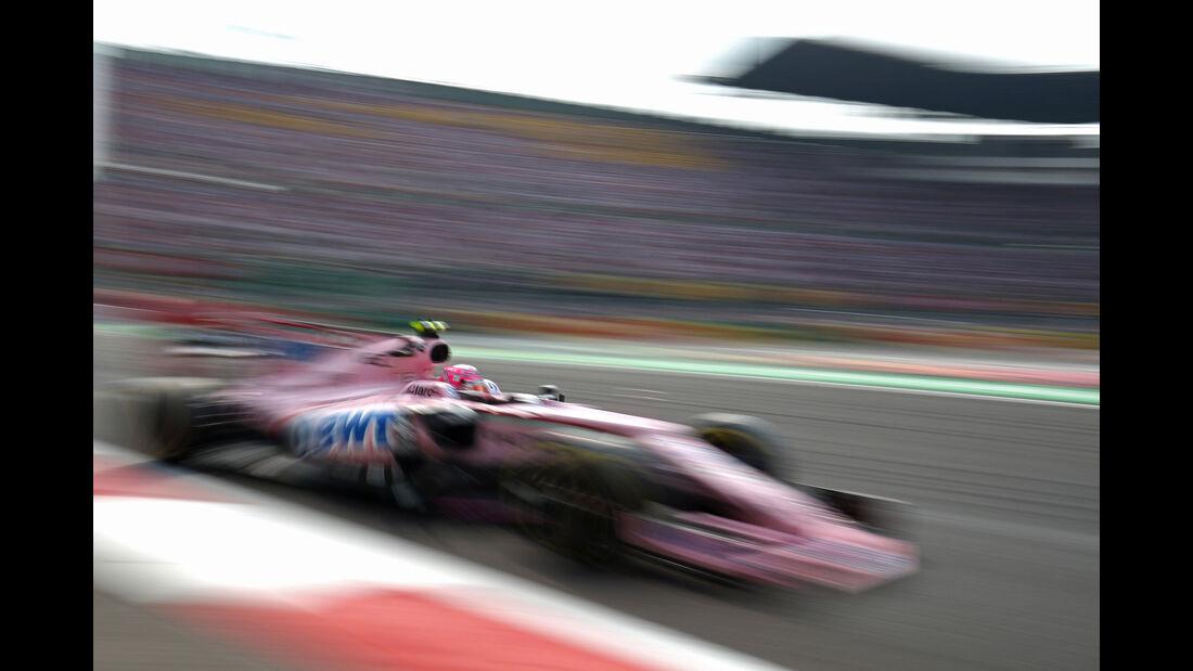 Sergio Perez - Force India - GP Mexiko 2017 - Rennen