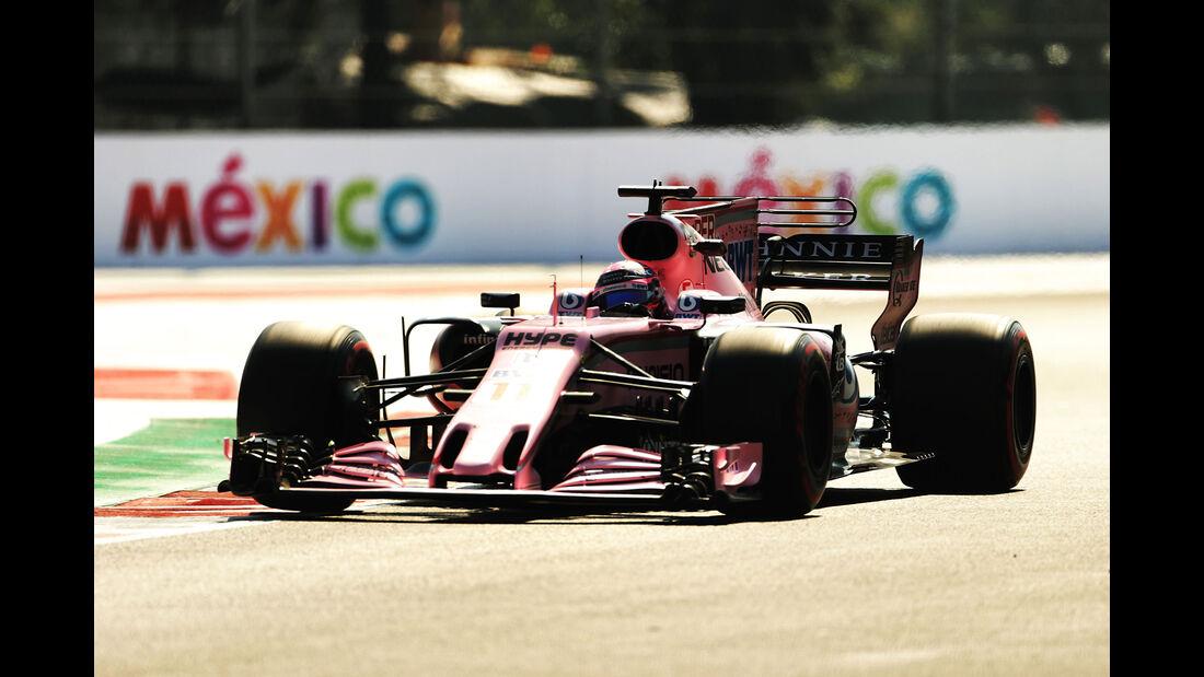 Sergio Perez - Force India - GP Mexiko - Formel 1 - Freitag - 27.10.2017