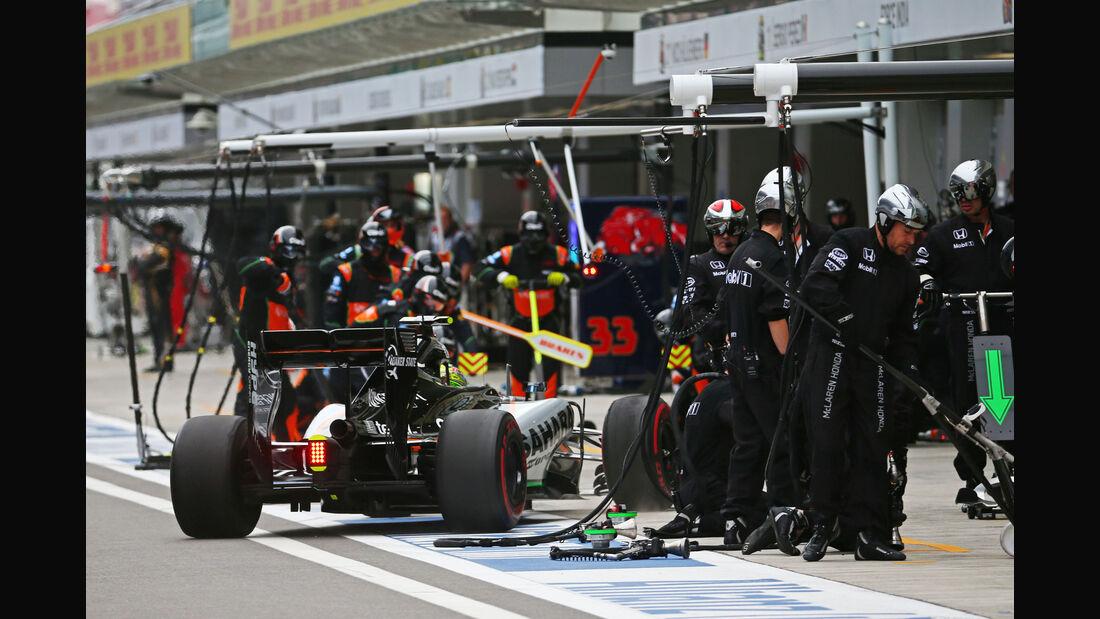 Sergio Perez - Force India - GP Russland 2015 - Sochi - Rennen