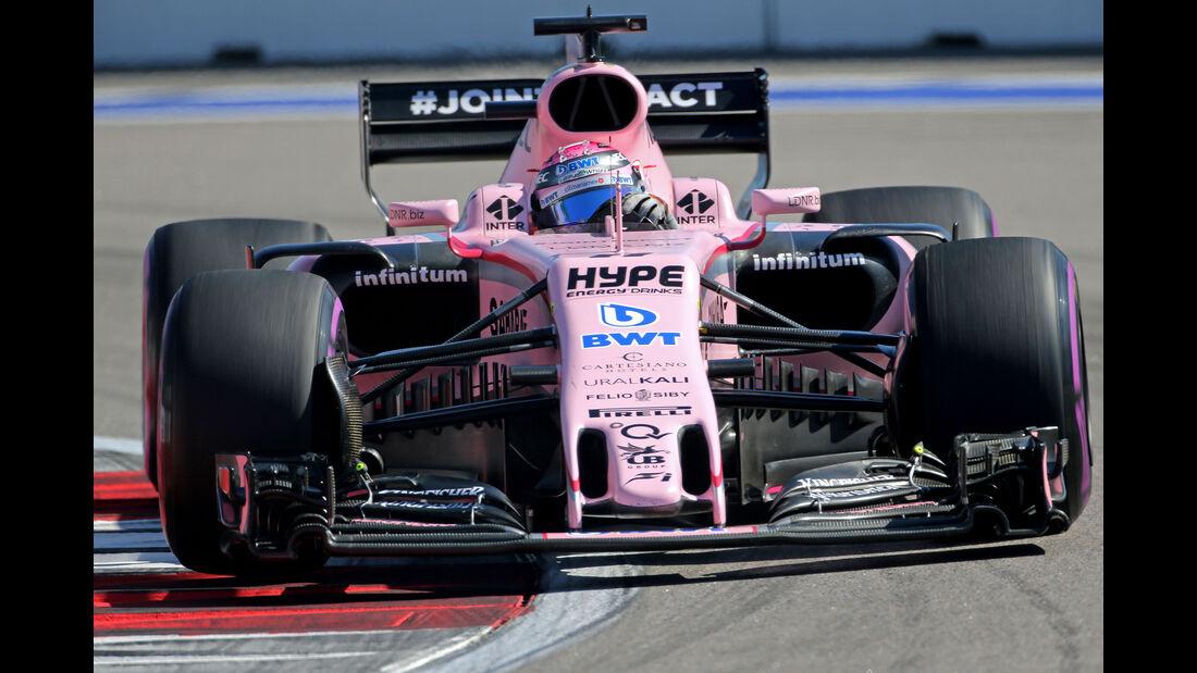 Sergio Perez - Force India - GP Russland 2017