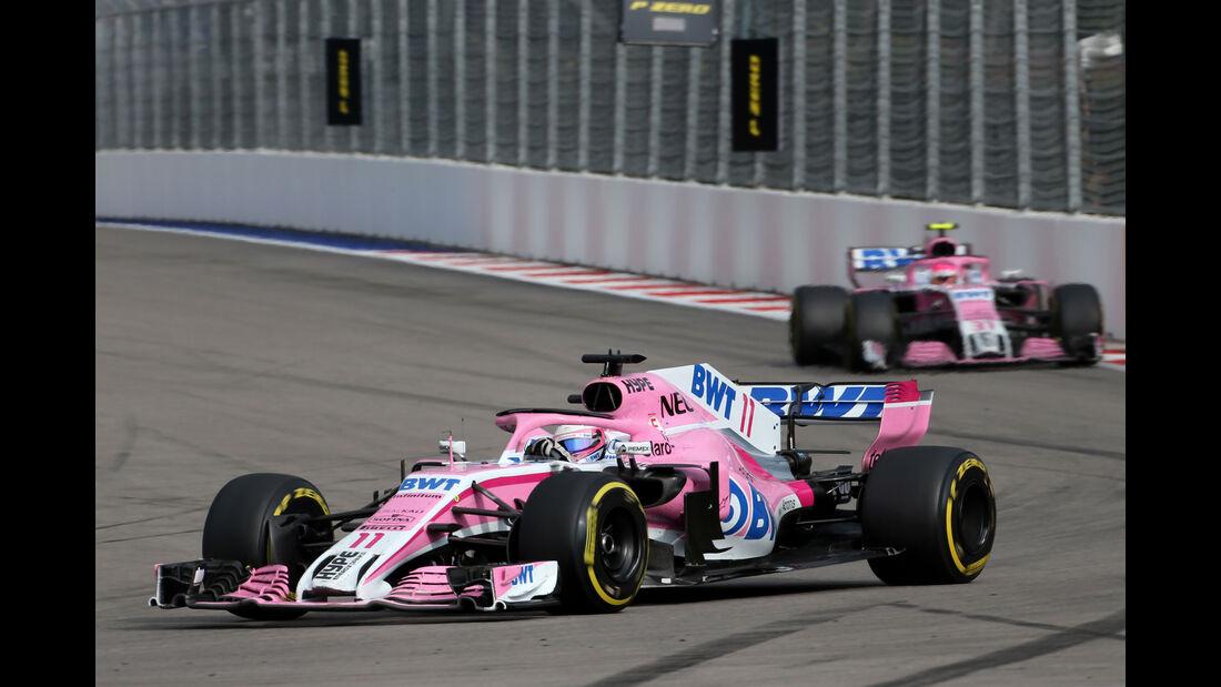 Sergio Perez - Force India - GP Russland 2018 - Sotschi - Rennen