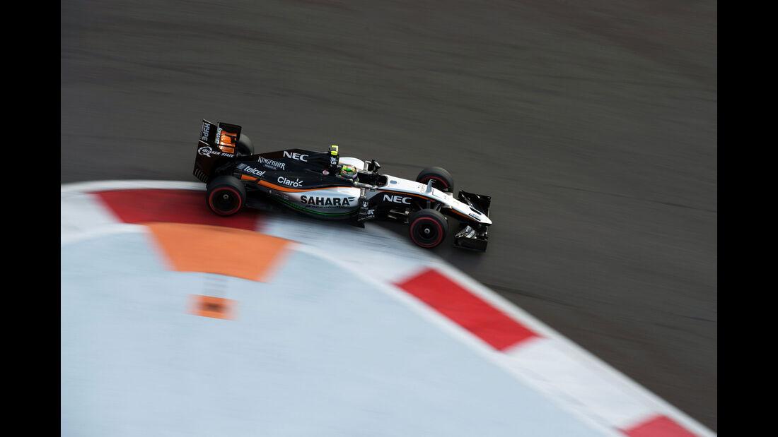 Sergio Perez - Force India - GP Russland - Qualifying - Samstag - 10.10.2015