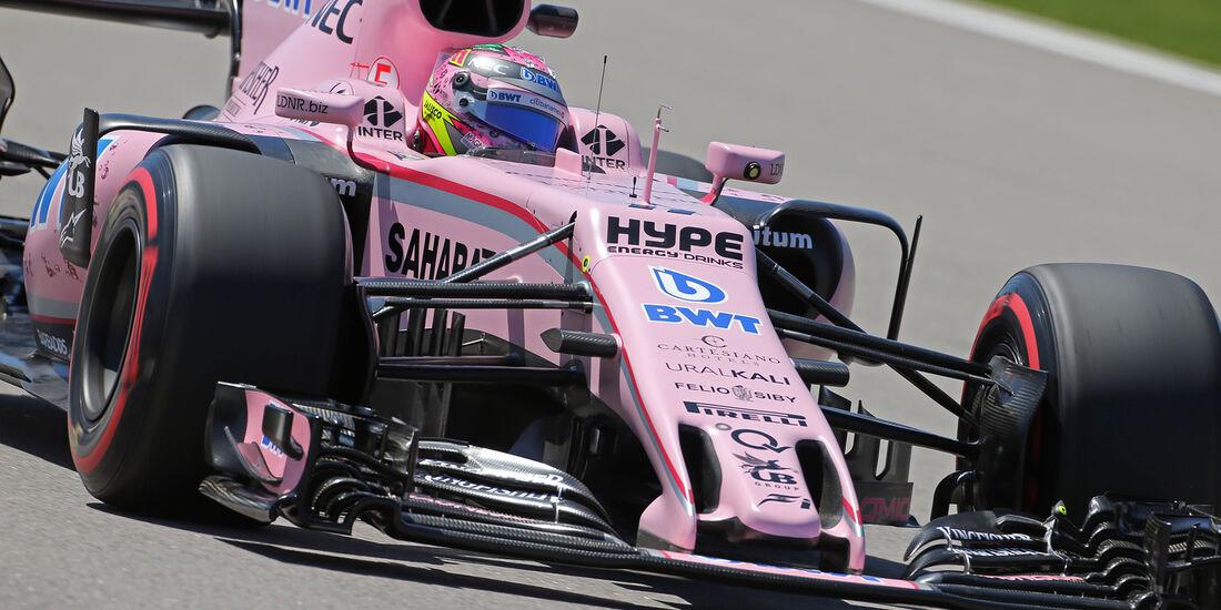 Sergio Perez - Force India - GP Russland - Sotschi  - Formel 1 - 28. April 2017