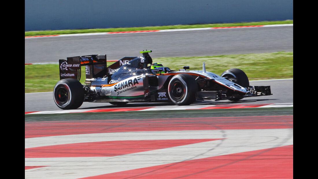 Sergio Perez - Force India - GP Spanien 2016 - Barcelona - F1 - Freitag - 13.5.2016
