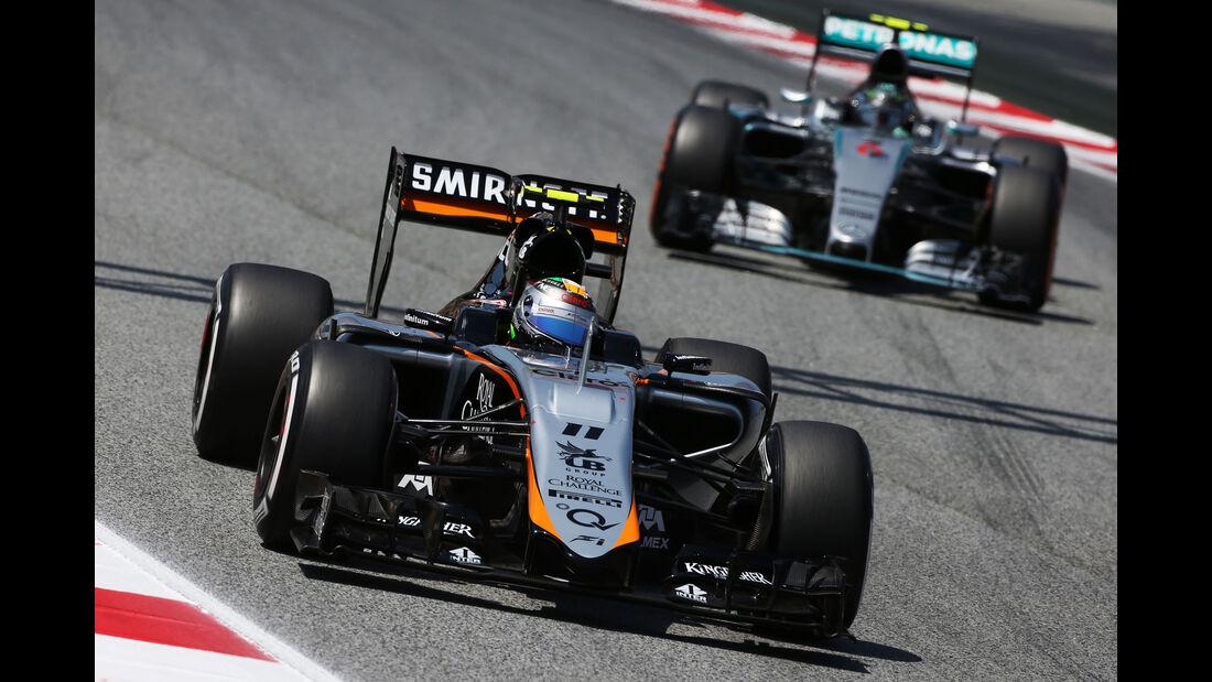 Sergio Perez - Force India - GP Spanien - Qualifying - Samstag - 9.5.2015