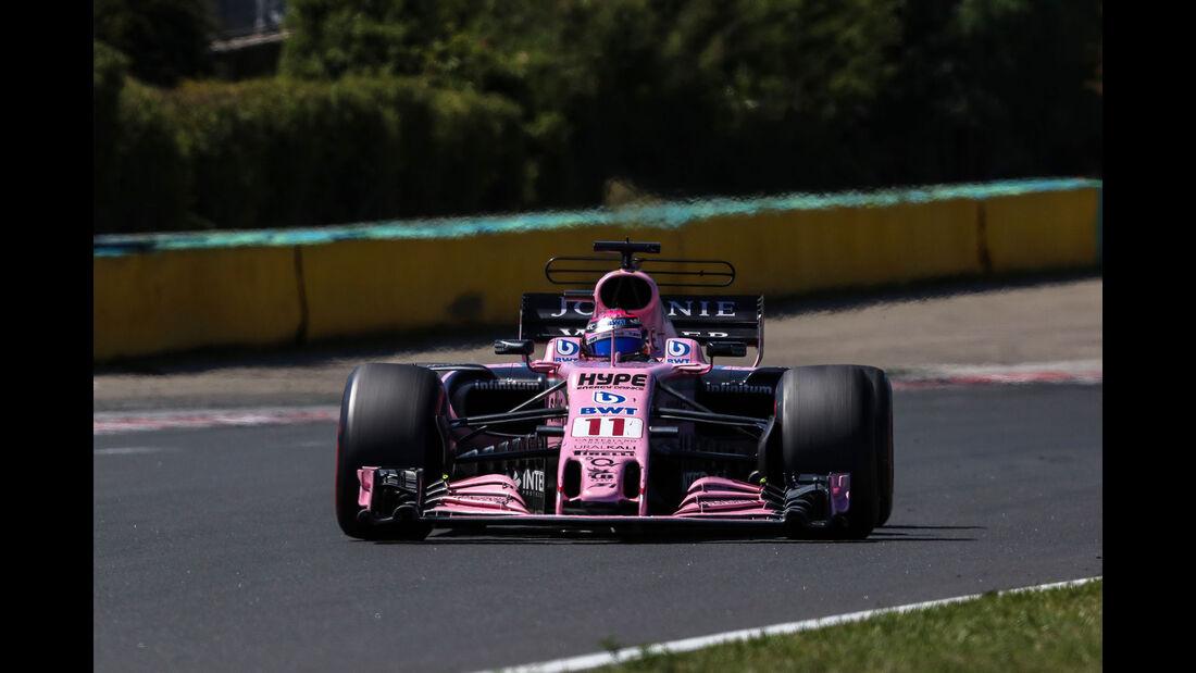 Sergio Perez - Force India - GP Ungarn 2017 - Budapest - Rennen