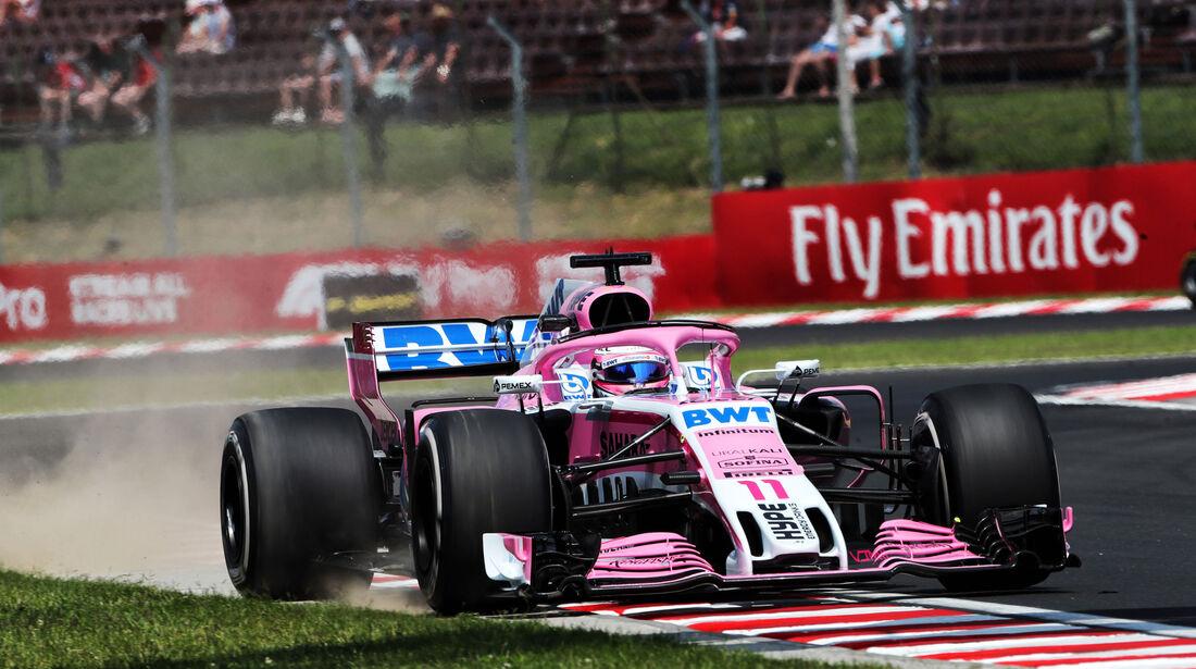 Sergio Perez - Force India - GP Ungarn - Budapest - Formel 1 - Freitag - 27.7.2018