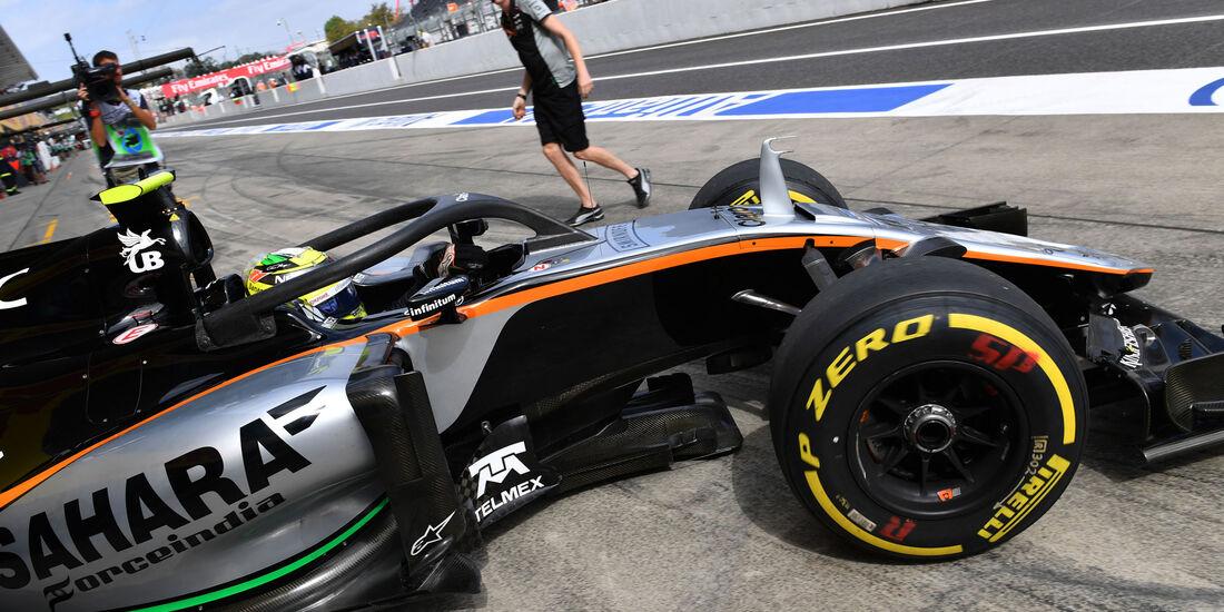 Sergio Perez - Force India - Halo - Formel 1 - GP Japan - Suzuka - Freitag - 7.10.2016
