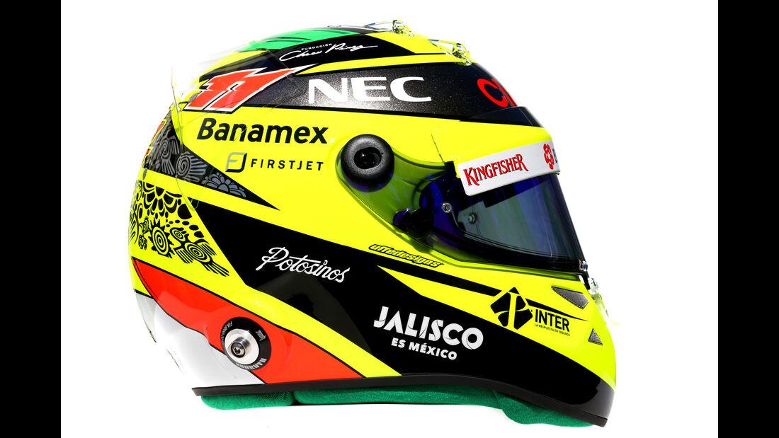 Sergio Perez - Force India - Helm - Formel 1 - 2016