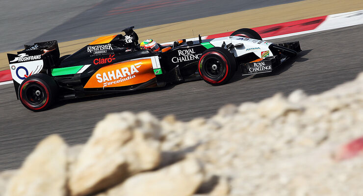 Sergio Perez - Force India - Test - Bahrain - 27. Februar 2014